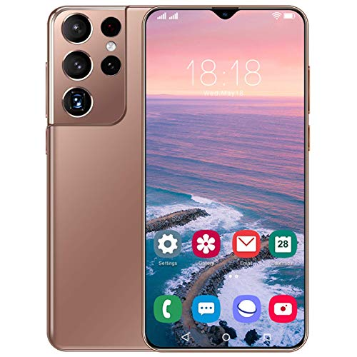 PEARFALL Mobiltelefone, 6,7 Zoll Dewdrop-Display Smartphones SIM-frei freigeschaltet, 5g Dual SIM Android 11, 4 GB RAM 512GB ROM, 32MP + 50MP Kamera, 6800mAh Lithium-Ionen-Batterie,Messing,One Size