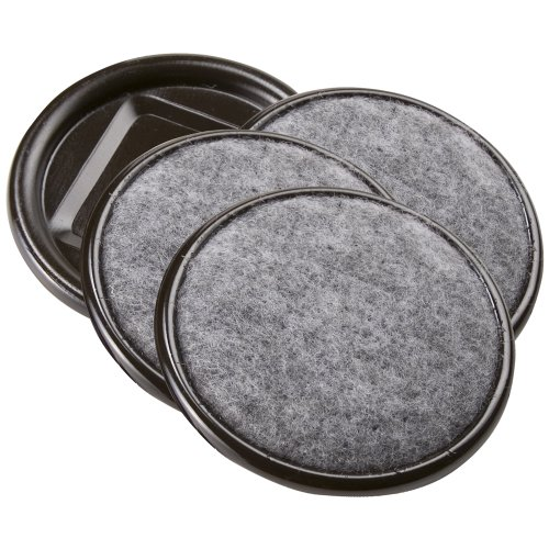 SoftTouch 4291295N 2-1/2 Inch Round Carpet Bottom Furniture Caster Cups to Protect Hardwood Floors, Brown/Grey, 4 Piece