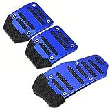 QUXING Pedal Freno Cubiertas Manual Universal Antideslizante del Pedal del Coche De La Cubierta para BMW E90 F30 F10 Audi A3 A6 C5 C6 Opel Insignia Alfa Romeo Accesorios SsangYong (Color : Azul)