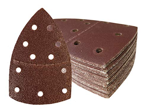 50hojas de lija con velcro 105x 152mm, grano 60para lijadora Prio
