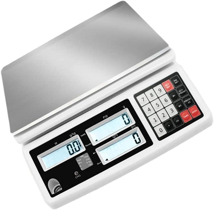 WZ Escala Conteo Digital Escala Recuento Monedas Piezas Precisión Escala Gramo Electrónica Báscula Conteo Industrial Laboratorio Balanza Digital (Size : 10kg/0.1g)
