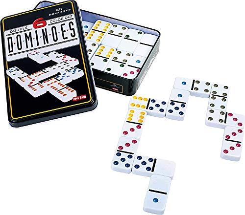 grupo fu Domino Doble 6. 28pc Dot Domino Juego de táctica - Juego de Mesa (Juego de táctica, Niños y Adultos)