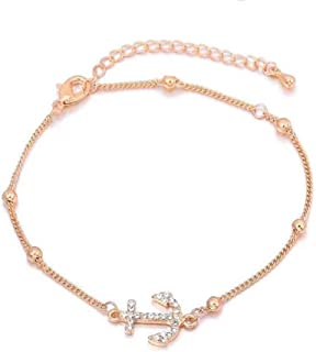 Women Rose Gold Foot Jewelry Adjustable Anklet Beach Chain Ankle Bracelet for Girl
