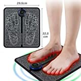 EMS Foot Massager USB Rechargeable Electric Foot Stimulator Massager, 6 Modes 9 Intensity, Improves Circulation, Relax Stiffness Muscles Relieve Feet and Legs Pain