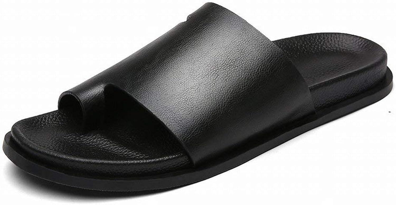 FuweiEncore Men's Sandals Uk Microfiber Flip Flops Sandals Flip Flop Men's Slippers (color   Black, Size   42)