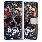DeinDesign Étui Compatible avec Sony Xperia XZ2 Compact Étui Folio Étui magnétique Fleurs Tête...