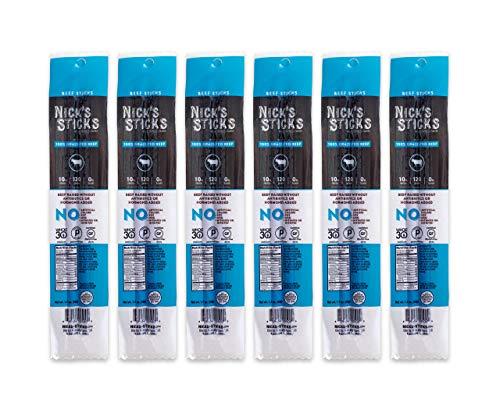 Nick's Sticks 100%グラスフェッドビーフスナックスティック−グルテンフリー—抗生物質やホルモン不使用(2スティック入り6パック) (インポート)