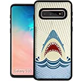 CasesOnDeck Case for [Samsung Galaxy S10 (2019)] - Dual Layer Slim Defender Bump and Drop Protection (Shark Attack)