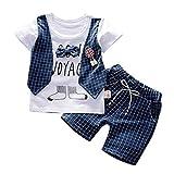 Briskorry Ensemble de vêtements d'été pour bébé garçon Gentleman Bow T-shirt Tops + short...