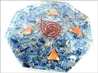 Nieuwe Blauwe Kyaniet Achthoek Vastu Plaat Energie Generator Crystal Edelstenen Unieke Zeldzame Wetenschap Bouw Vedische A...