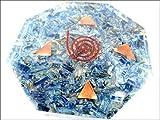 Nuevo azul cianita octágono vastu placa generador de energía piedras preciosas únicas ciencias raras construcción védicas astrología 40 páginas folleto terapia de cristal