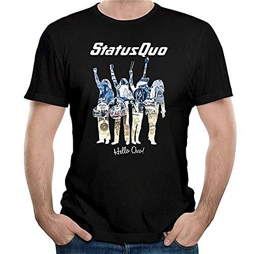 Status Quo Band Hello Quo Herren T-Shirt, Schwarz Gr. L, Schwarz