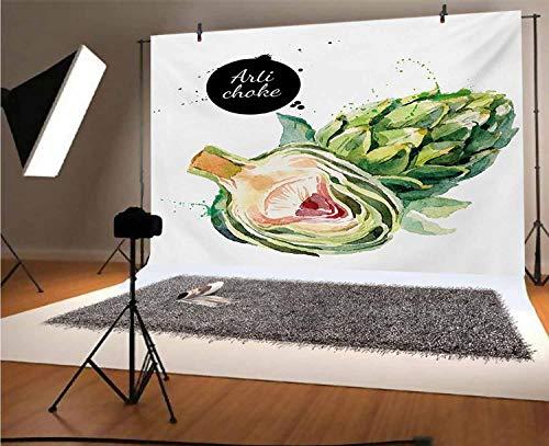 Fondo de vinilo para fotografía de alcachofa de 10 x 6,5 pies, para decoración de graduación o baile, estudio de estudio de fotografía