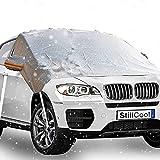 auvstar Copri Parabrezza per Auto,Impermeabile Telo Parabrezza,CopriparabrezzaTelo Parabrezza Antigelo Collassabile,può Prevenire Neve, Gelo, Polvere, Sole(245×148cm) Adatto per Auto e SUV