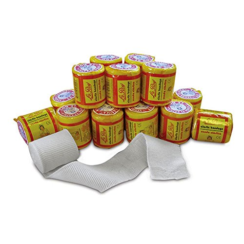 Le Roy Mexican Gauze Boxing Hand Wraps Elastic Bandages Revgear Ambra LeRoy Combat Sports Non-Sterile, 2' x 5.5 yd - 16 pack
