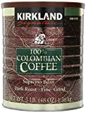 Kirkland Signature 100% Colombian Coffee, Supremo Bean Dark Roast-Fine Grind, 3 Pound