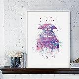Geiqianjiumai Moderne Anime Katze Japanischen Anime Film Kunstdruck Poster abstrakte wandbild leinwand malerei kinderzimmer Dekoration rahmenlose malerei 60x80 cm