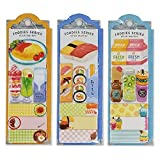 Mind Wave Sticky Note Markers (Set of 3) - Restaurant Food, Sushi & Drinks - for bookmarking Labelling Your Planner Notebook Document & Diary