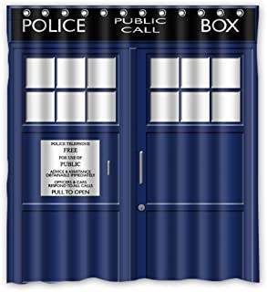 FMSHPON Police Box Public Call Waterproof Fabric Bathroom Shower Curtain 66 x 72 Inches