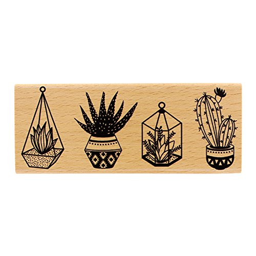 Florilèges Design stempel fg216026 hout kleine planten 6 x 15 x 2,5 cm