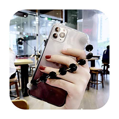 Funda para Redmi Note 6, pulsera de piedras preciosas 3D para Xiao mi Redmi Note 6, 7, 7A, 8, 8A, 8T, 9 9S Pro 9T, diamante, transparente, correa de mano con pulsera para Redmi Note 8T