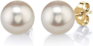Freshwater Cultured Pearl Earrings for Women with 14K...