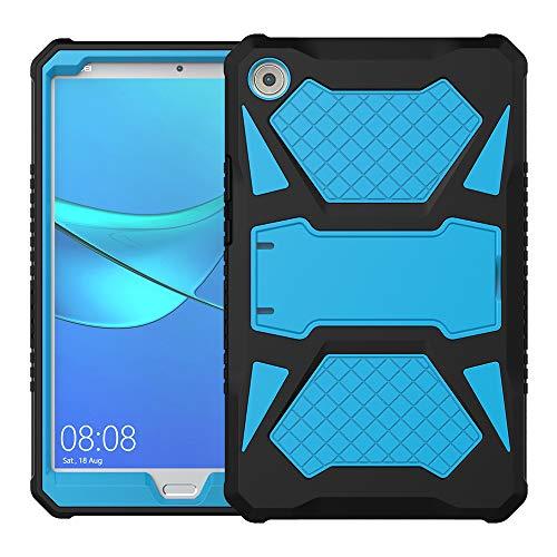 Foluu compatible con Huawei MediaPad M5 8.4, funda de silicona ultra híbrida resistente + carcasa protectora de policarbonato duro a prueba de golpes con función atril para Huawei M5 8 8.4 pulgadas