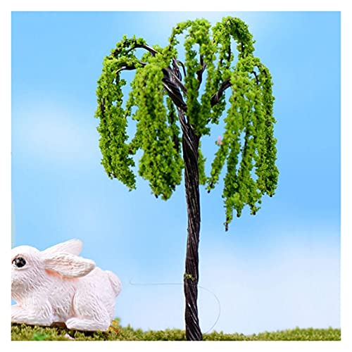 liuchenmaoyi Spielzeug für den Blumengartenbau 10 stücke Mini Baum Fairy Garten Dekorationen Miniaturen Micro Landschaft Harz Handwerk Miniaturen Garten Terrarium Zubehör Diorama (Color : 4)