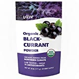 LOOV Blackcurrant Powder Organic, Made from 100% Whole Blackcurrants, Freeze Dried and Powdered Organic Blackcurrants, 6 Ounces, 21-Day Supply, Raw, Grown in Northern Europe, no Added Sugar