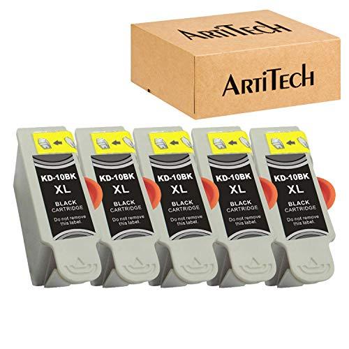 Replacements for Kodak 10XL 10B 10 Black Compatible Ink Cartridge 5 Pack Black Ink Use for Kodak 5100 5300 5500 ESP3250 ESP5250 ESP3 ESP5 ESP7 ESP9 Hero 7.1, 9.1 Printers
