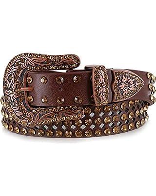 Shyanne Women's Bling Belt Brown M/L