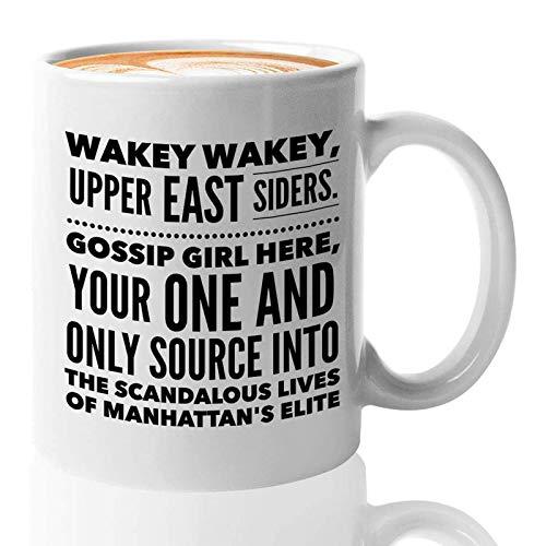 Taza de café serie de TV – Wakey Wakey Wakey Upper East Siders – Teen drama serie temporada secundaria romance comedia actor actriz fan de televisión 11 oz