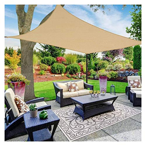 GAOYUY Toldo Vela De Sombra Cuadrado, Protección Rayos UV Impermeable Toldos para Jardín, Piscina Y Terraza para Jardín, Patio, Exteriores, Pergola Decking (Color : Sand, Size : 2x3m)