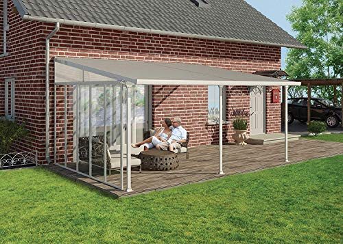 Palram Pergola Patio Cover Feria - Robust Structure for Year-round Use (4X4.2, White)
