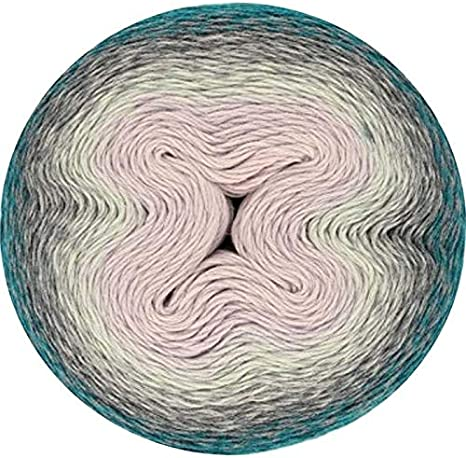 Scheepjes Whirl-Minty Black Velvet-785-Colour gradient yarn grey mint for crocheting and knitting