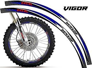 Senge Graphics Vigor Blue rim protector set for one 18 inch rim and one 21 inch rim