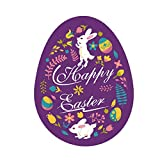 Fine Easter Wall Sticker,Funny Easter Bunny Stickers Easter Door Decorations Egg Stickers Removable Art Home DIY Decals (A)