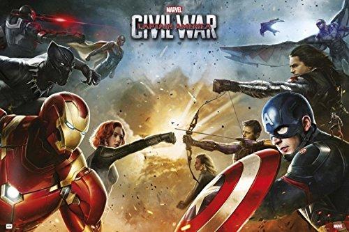 1art1 Captain America - Civil War Poster 91 x 61 cm