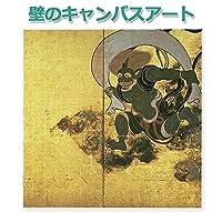 壁の小さなアート 屏風絵 風神雷神 俵屋宗達 日本製 オリジナル画像をキャンバスにUV印刷 日本製