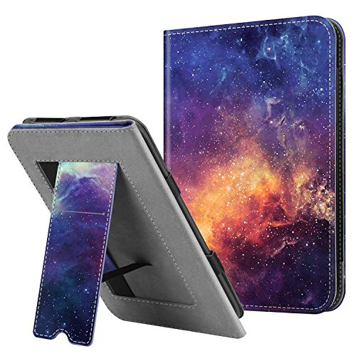 Fintie Stand Case for All-New Nook Glowlight Plus 7.8 Inch 2019 Release, Folio Premium PU Leather Protective Cover with Card Slot and Hand Strap (Not Fit Previous Gen 6 Inch 2015) (Galaxy)