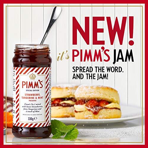 Pimms Strawberry Tangerine & Mint Preserve with Pimm's No. 1 Gin Cup 330g - Erdbeer-, Mandarinen- und Minzmarmelade