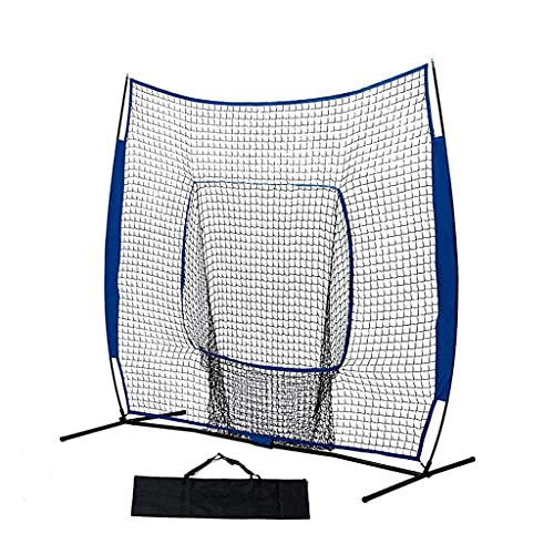 LOFAMI 7x7FT Baseball Softball Colpire Pitching Net, Practice Colpire, Pitching, Batting And Catching, Backstop Screen Attrezzature AIDS AIDS, Include Borsa da Trasporto