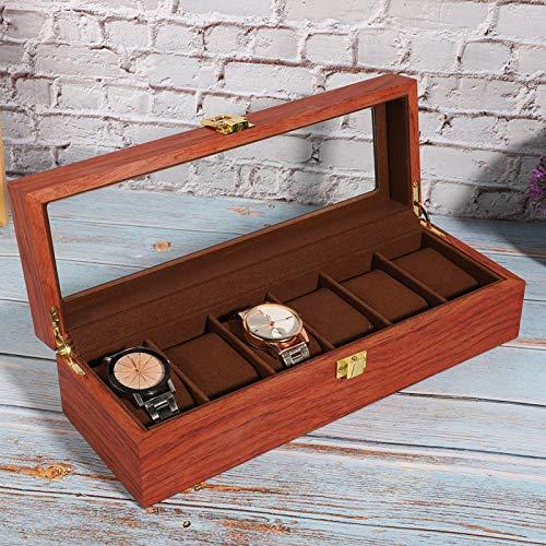 Yivibe Caja de exhibición de Reloj, Caja de Madera para joyería Caja de Reloj para Hombres, Caja de cajón de exhibición de joyería para Hombres y Mujeres Almacenamiento y exhibición Herramienta de