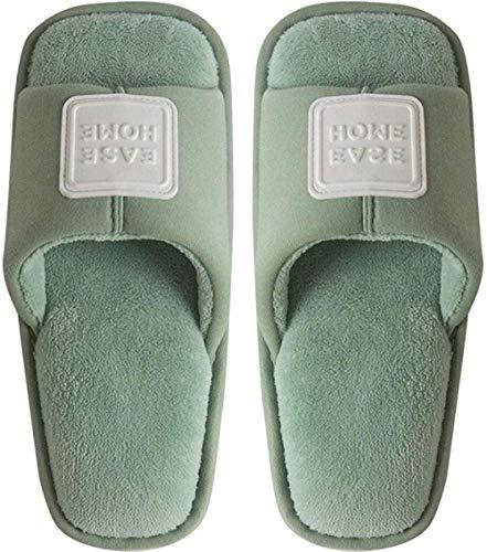 Nikai slippers vrouwen, Herfst en winter dames vloer home leisure slaapzaal anti-slip dikke bodem mute katoen slippers, slippers vrouwen