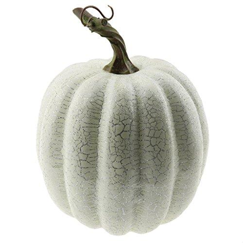 Gresorth 1 PC Halloween Dekorativ Faserband Linie Kürbis Künstlich Fälschung Gemüse Dekoration - Weiß