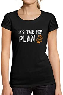 Ultrabasic Women's Short Sleeved It's Time for Plan B Bitcoin T-Shirt BTC HODL Tee Crypto Gift Idea Deep Black