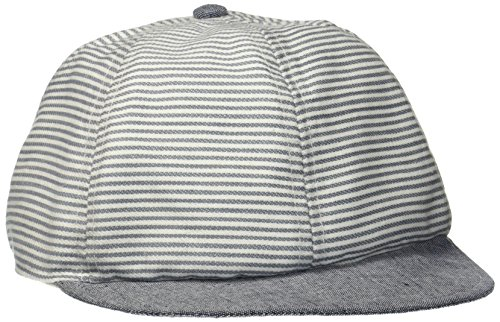 Melton Jungen Cap - Milky Stripes UV30+ Kappe, Mehrfarbig (Monument Grey 145), 53