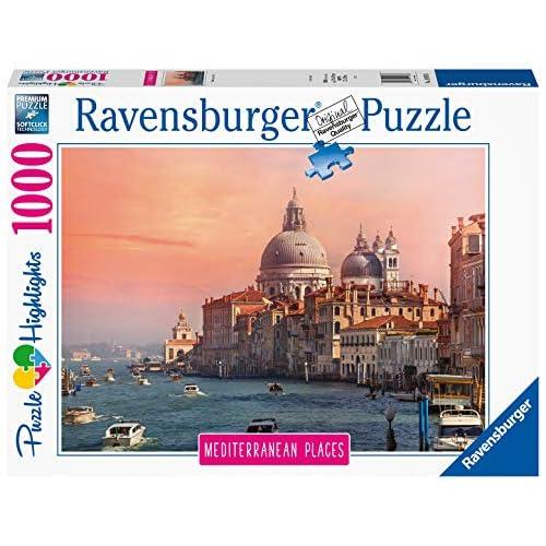 Ravensburger Puzzle, Puzzle 1000 Pezzi, Italia, Puzzle per Adulti, Collezione Mediterranean Places, Puzzle Venezia, Puzzle Ravensburger - Stampa di Alta Qualità