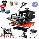 Wang Advanced 8 in 1 Combo Heat Press Transfer Machine Sublimation Heat Press for Plate Mug Cap T-Shirt Phone case