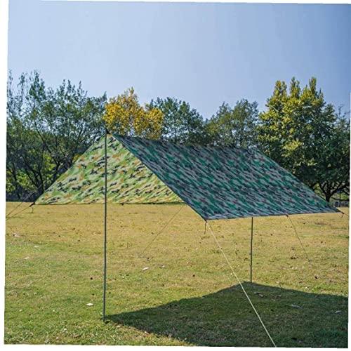 Sombra de Sun Shade 300 * 300 cm Rectángulo RECTANGE A prueba de agua Spade Vela UV Resistente al sol A prueba de sol para la pérgola Camping Pérgola Balcon con la cuerda libre [Camuflaje]